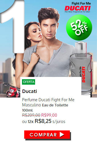 Perfume Ducati Fight For Me Masculino EDT 100ml