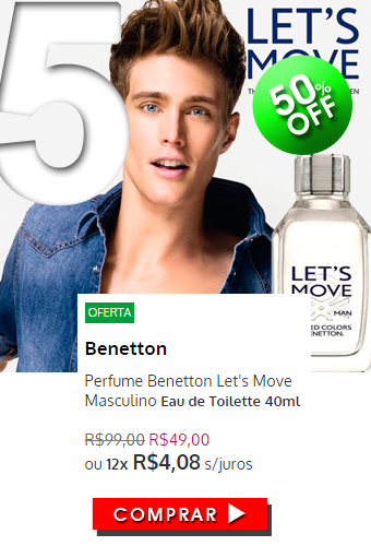 Perfume Benetton Let's Move Masculino EDT 40ml