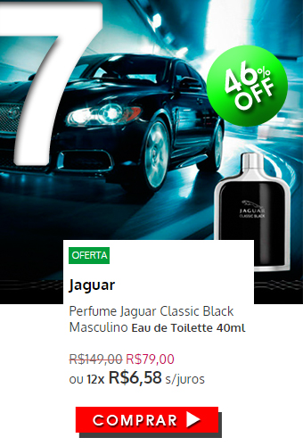 Perfume Jaguar Classic Black Masculino EDT 40ml