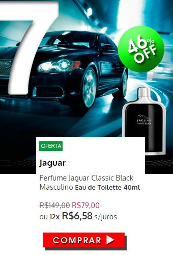 Perfume Jaguar Classic Black Masculino EDT 40ml