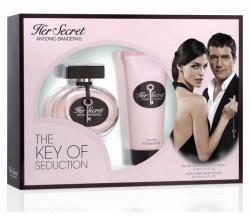 Coffret Her Secret Feminino EDT 80ml + Body Lotion 100ml
