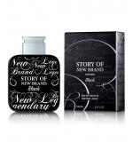 Perfume Story Of New Brand Black Masculino Eau de Toilette 100ml